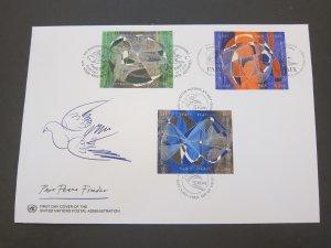 United Nations (NY,Vienna,Geneva) 1993 Sc 155a,239a,632a FDC