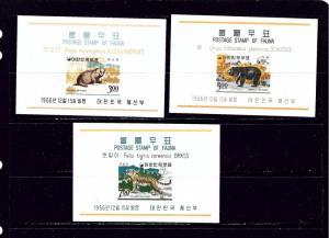 South Korea 502a-04a MNH 1966 Animals souvenir sheets