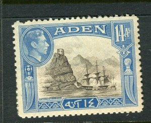 ADEN; 1938 early GVI issue fine Mint hinged Shade of 14a. value