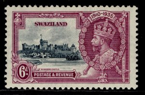 SWAZILAND GV SG24, 6d slate & purple, M MINT.