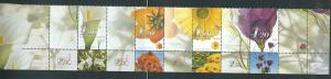 Israel 1439 2002 Months of Year Strip (4) w/Six Labels, MNH