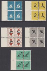 Netherlands Sc B296-B300 MNH. 1956 Melbourne Olympics Matched Sheet Margin Block