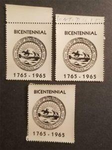 1965 Dunbarton New Hampshire Lot Cinderella Poster Stamp Gum Dist T3915
