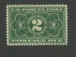 1913 United States Parcel Post Postage Due Stamp #JQ2 Mint Hinged VF OG