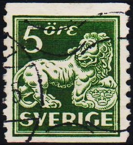 Sweden. 1920 5ore S.G.96Bb Fine Used