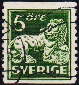 Sweden. 1920 5ore S.G.96Bb Fine Used