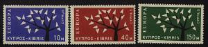 CYPRUS 1962 EUROPA set unhinged mint - MNH