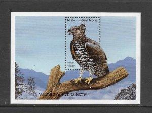 BIRDS - SIERRA LEONE #1262  CROWNED EAGLE  MNH