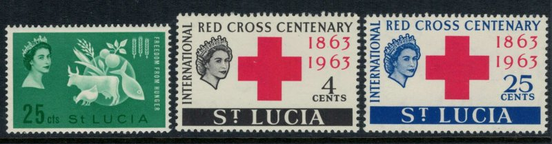 St. Lucia #179-81*  CV $1.65