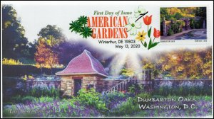 20-124, 2020, American Gardens, Digital Color Postmark, First Day Cover, Dumbart