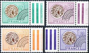 France #1460-1463 Gallic Coins Type of 1975 - MNH
