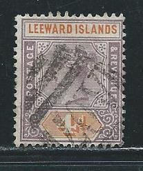 Leeward Islands 4 1890 4d Victoria Used