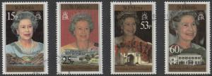 St Helena: 1996 Elizabeth II 70th Birthday Set of 4 Stamps SG716-719 Fine Used