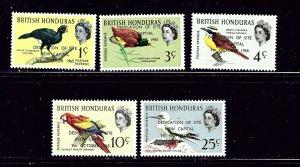 British Honduras 195-99 MNH 1966 Birds    (ap2745)