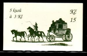 Czech Rep Sc 2890 Cesky Krumlov UNESCO stamp booklet mint NH