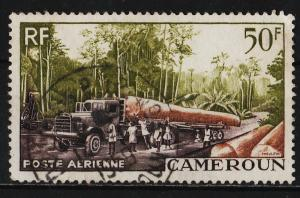 Cameroon 1955 Air Mail / Various Designs 50F (1/3) USED