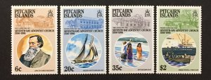 Pitcairn Islands 1986 #277-80, 7th Day Adventist Church, MNH(see note).