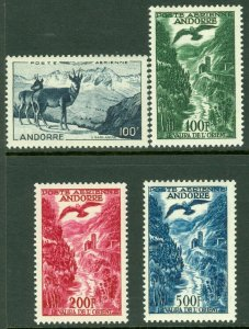 EDW1949SELL : FRENCH ANDORRA 1950-57 Scott #C1-4 Complete. VF, Mint OG. Cat $256