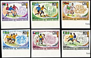 Upper Volta 335-337,C193-195, MNH imperf., History of World Cup Winners