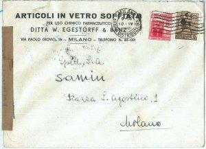 73827 - ITALIA RSI - Storia Postale  -   BUSTA CENSURATA  1945