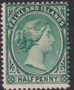 Sc# 9a 1881 Falkland Island QV Queen Victoria half pence MLMH issue CV $30.00