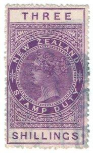 (I.B) New Zealand Revenue : Stamp Duty 3/- (sideways watermark)