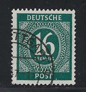 Germany AM Post Scott # 542, used