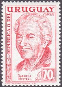 Uruguay # 642 mnh ~ 20¢ Gabriela Mistral, Poet