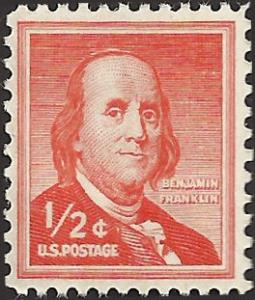 # 1030a MINT NEVER HINGED DRY PRINT BEN FRANKLIN