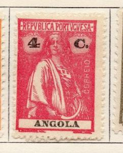 Angola 1922 Early Ceres  Issue Fine Mint Hinged 4c. 139707