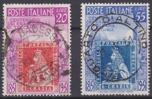 Italy 568-569 used (1951)