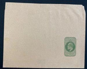 Mint England Wrapper Postal Stationery Half Penny Green 1910s