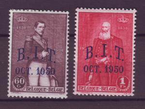 J21303 Jlstamps 1930 belgium part of set mh ovpt,s #222-3 kings