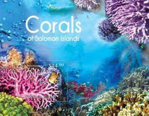 SOLOMON ISLANDS 2013 SHEET CORALS MARINE LIFE slm13104b