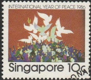 Singapore,  #496 Used  From 1986