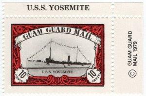 (I.B) Guam Local Post : Guam Guard Mail 10c (USS Yosemite)