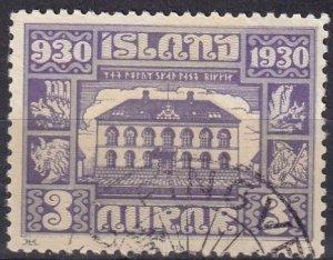 Iceland #152 F-VF Used CV $10.00 (Z6462)