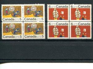 Canada  #522ii, 525ii     Mint NH  VF  - Lakeshore Philatelics