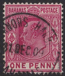 BAHAMAS 1909 EVII 1d - GOVERNORS HARBOUR cds................................2903