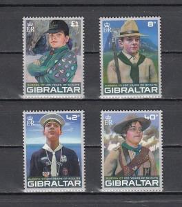 Gibraltar, Scott cat. 1080-1083. Europa-Scouts issue.