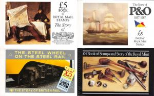 Lot of 10 Great Britain MNH Royal Mail Prestige Stamp Books #140693 X