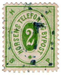 (I.B) Denmark Telegraphs : Horsens Telegraph 2 Ore