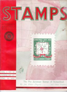 Stamps Weekly Magazine of Philately December 23, 1933 Stamp Collecting Magazine