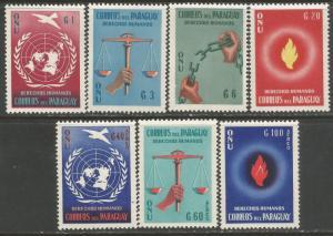 PARAGUAY 565-68 C269-71 MOG UN K670-2