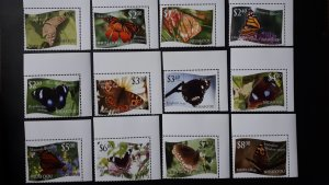 Tonga - Niuafoou - Butterflies ** MNH complete set with tabs