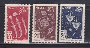 French Morocco 285-287 Set MH Various