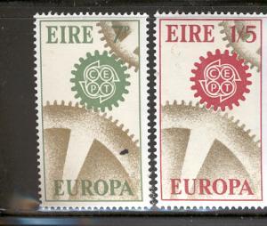 IRELAND MNH 232-3 EUROPA COGWHEELS