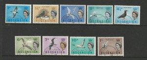 Ascension, 1963 Birds short set to 1/- FU SG 70/8