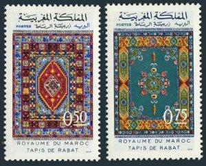 Morocco 270A-271A,MNH.Michel 716-717. Rugs,1972.Rabat rugs.