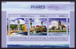 Guinea - New Issue - MNH Lighthouses (M/S)